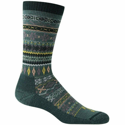 Farm to Feet Womens Hamilton Fair Isle Crew Socks Small / Green Gables