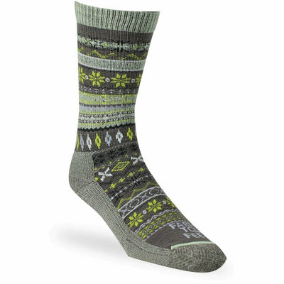 Farm to Feet Womens Hamilton Fair Isle Crew Socks Small / Sparrow