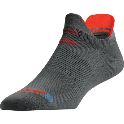 Drymax Triathlete Cycle & Run Double Tab Socks Small / Anthracite/Orange