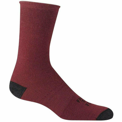 Farm to Feet Arlington Ultralight Crew Socks - Small / Zinfandel