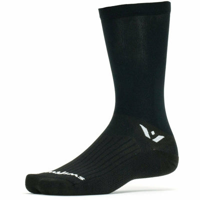 Swiftwick Aspire Seven Crew Socks - Small / Black