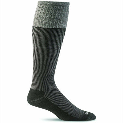Sockwell Mens Bart Moderate Compression OTC Socks - Medium/Large / Black