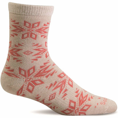 Sockwell Womens Winterlust Essential Comfort Crew Socks Small/Medium / Khaki