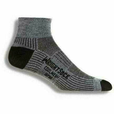 Wrightsock Double-Layer Coolmesh II Lightweight Quarter Socks Small / Grey / Single Pair