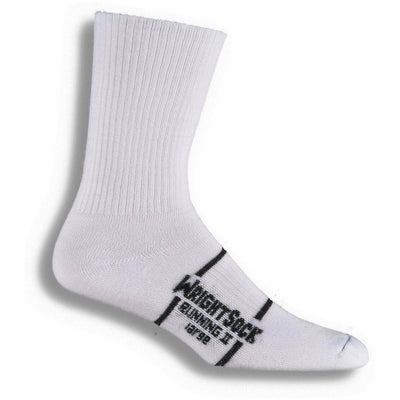Wrightsock Running II Crew Socks - Small / White / Single Pair