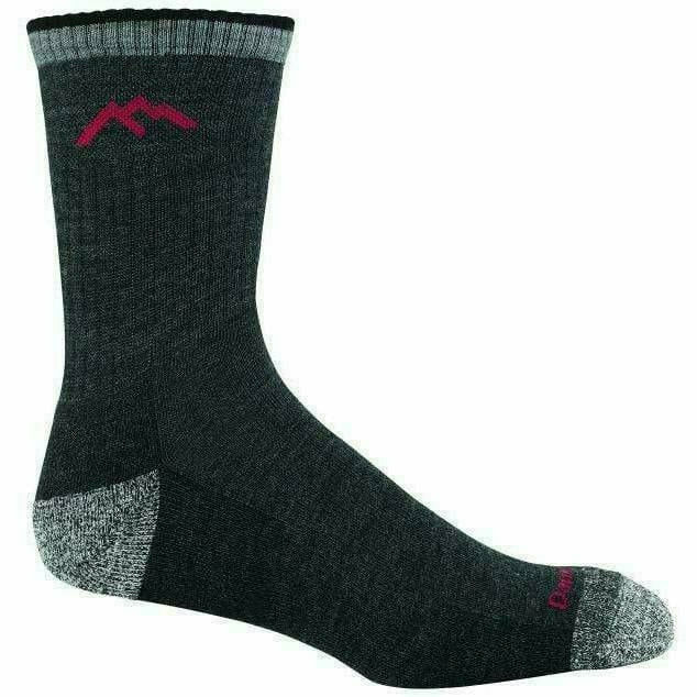 Darn Tough Hiker Micro Crew Cushion Mens Socks - Small / Black