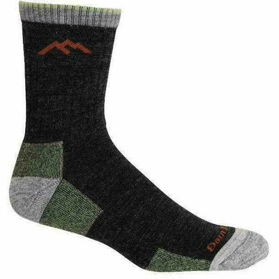 Darn Tough Hiker Micro Crew Cushion Mens Socks Medium / Lime