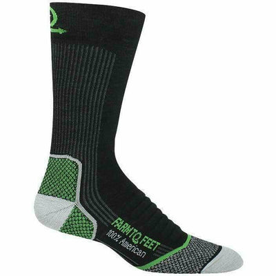 Farm to Feet Mens Damascus Lightweight Elite Hiker Socks - Medium / Black