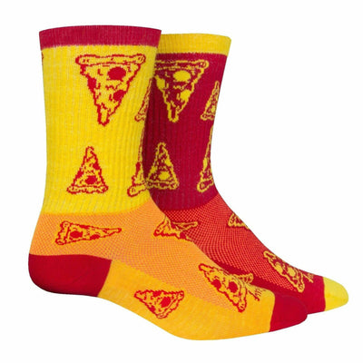 SockGuy Delivery Performance Crew Socks - Small/Medium / Red/Yellow