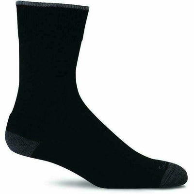 Sockwell Womens Easy Does It Relaxed Fit Crew Socks - Small/Medium / Black