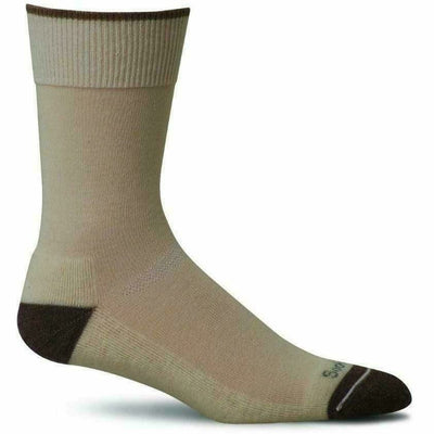 Sockwell Womens Easy Does It Relaxed Fit Crew Socks - Small/Medium / Natural