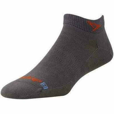Drymax Extra Protection Hyper Thin Running Mini Crew Socks - Small / Anthracite/Orange