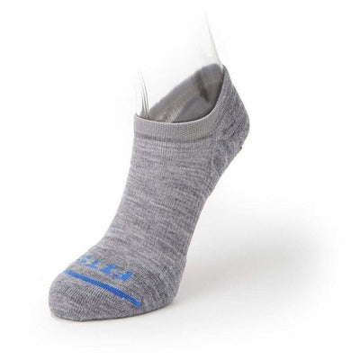 FITS Light Runner No Show Socks - XX-Large / Light Grey