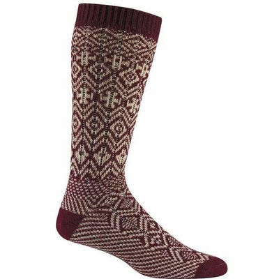 Wigwam Rorvik Crew Socks - Medium / Maroon