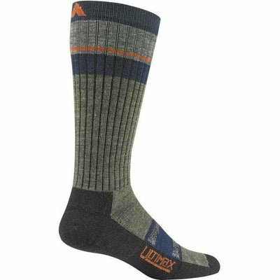Wigwam Pikes Peak Pro Crew Socks - Medium / Olive Green Heather