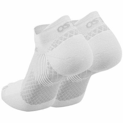OS1st Plantar Fasciitis Compression No Show Socks Small / White