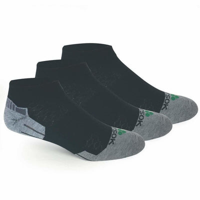 Fitsok CX3 CoolMax Low Cut Socks - Medium / Black/Gray