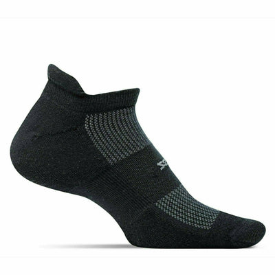 Feetures High Performance Cushion No Show Tab Socks - Small / Black