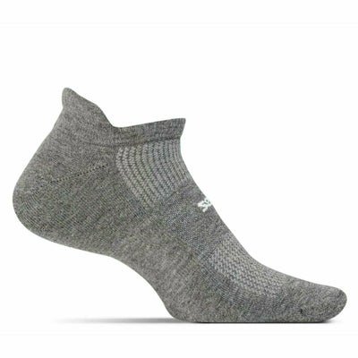 Feetures High Performance Cushion No Show Tab Socks Small / Heather Gray