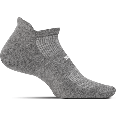 Feetures High Performance Ultra Light No Show Tab Socks Small / Heather Gray