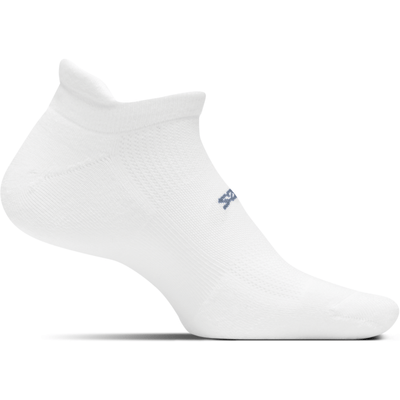 Feetures High Performance Ultra Light No Show Tab Socks Small / White