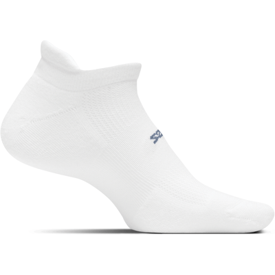 Feetures High Performance Cushion No Show Tab Socks - Small / White