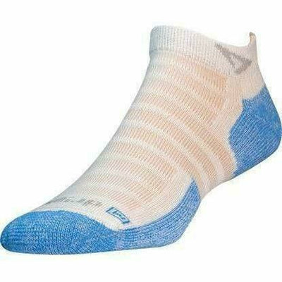 Drymax Hot Weather Run Mini Crew Socks - Small / White Blue