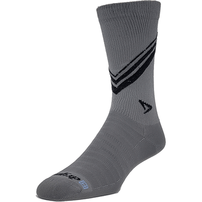 Drymax Hyper Thin Running Crew Socks - Small / Dark Gray/Black Stripes