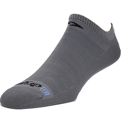 Drymax Run Hyper Thin No Show Socks - Small / Dark Gray
