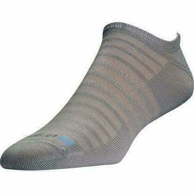 Drymax Run Hyper Thin No Show Socks - Small / Gray