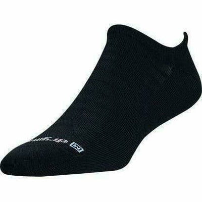 Drymax Run Hyper Thin No Show Socks - Small / Black