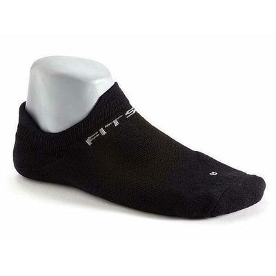 Fitsok F4 No Show Socks Small / Black/Black
