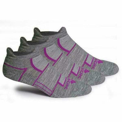 Fitsok ISW Isowool No Show Socks - Small / Heather Gray