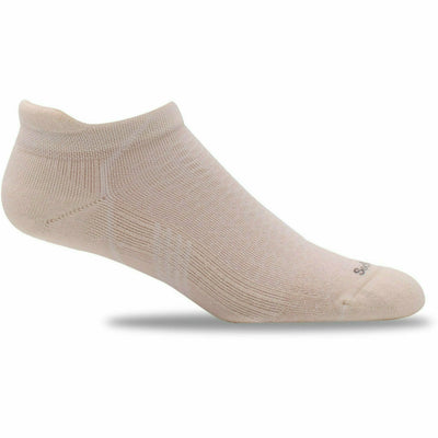 Sockwell Womens Moderate Compression Incline Micro Socks - Small/Medium / Natural Solid