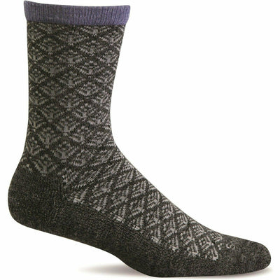 Sockwell Womens Sweet Pea Essential Comfort Crew Socks Small/Medium / Charcoal