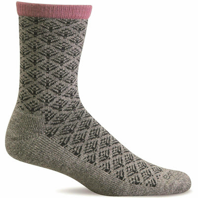 Sockwell Womens Sweet Pea Essential Comfort Crew Socks Small/Medium / Grey