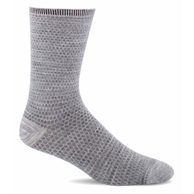 Sockwell Womens Wabi Sabi Essential Comfort Crew Socks - Small/Medium / Light Grey