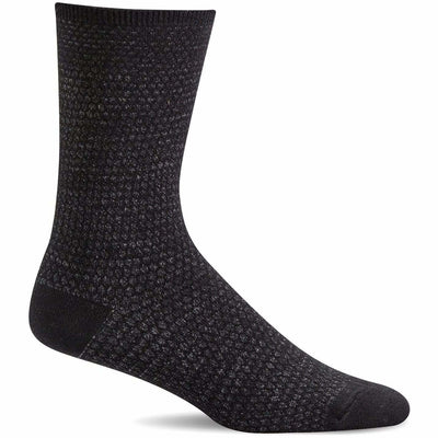 Sockwell Womens Wabi Sabi Essential Comfort Crew Socks - Small/Medium / Black