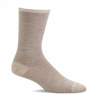 Sockwell Womens Wabi Sabi Essential Comfort Crew Socks - Small/Medium / Barley