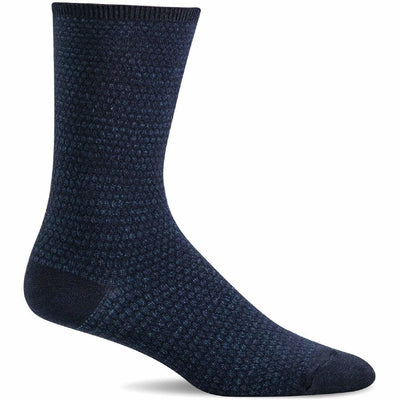 Sockwell Womens Wabi Sabi Essential Comfort Crew Socks - Small/Medium / Navy