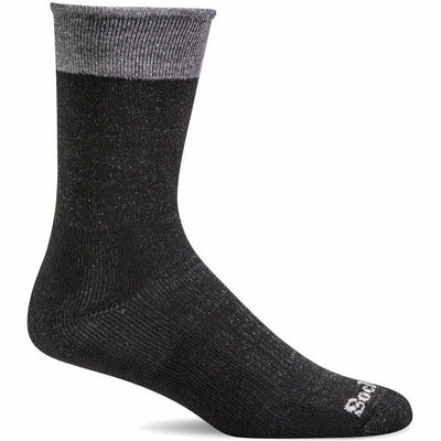 Sockwell Womens Sole Mate Essential Comfort Crew Socks - Small/Medium / Black
