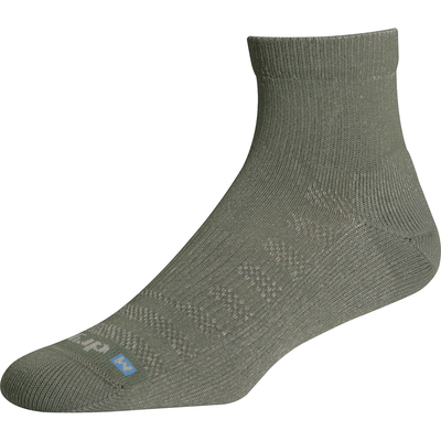 Drymax Lite Hiking 1/4 Crew Socks - Small / Foliage Green/Anthracite