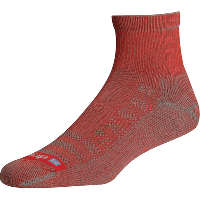 Drymax Lite Hiking 1/4 Crew Socks Small / Red/Anthracite