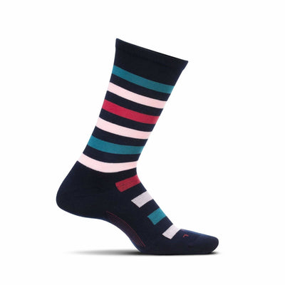 Feetures Everyday Womens Atherton Cushion Crew Socks Small / Navy