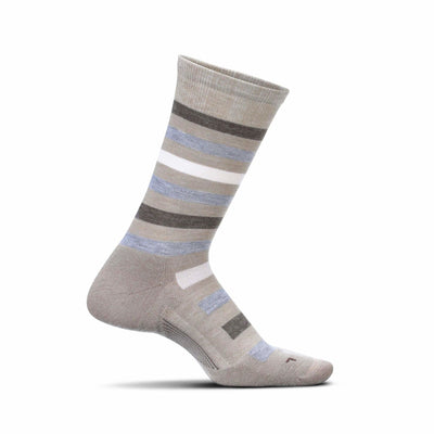 Feetures Everyday Womens Atherton Cushion Crew Socks Small / Oatmeal
