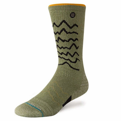 Stance Mens Adventure Thunder Valley Trek Socks - Medium / Olive