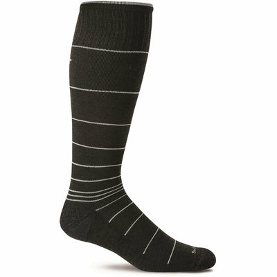 Sockwell Mens Circulator Moderate Compression OTC Socks Medium/Large / Black Stripe