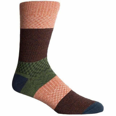 Richer Poorer Mens Gilgamesh Crew Socks - One Size Fits Most / Orange/Teal
