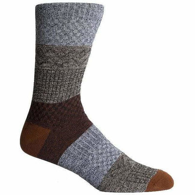 Richer Poorer Mens Gilgamesh Crew Socks - One Size Fits Most / Teal/Brown
