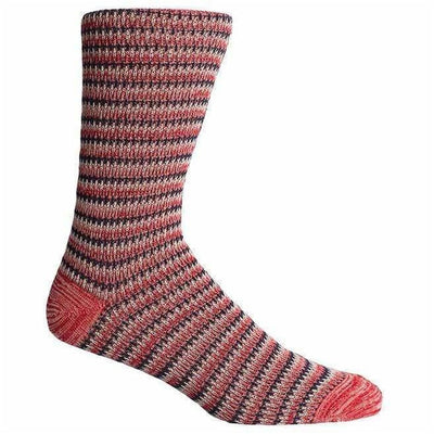 Richer Poorer Mens Lobos Crew Socks - One Size Fits Most / Red/Navy